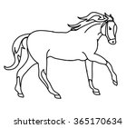 the outline of a galloping horse | Shutterstock .eps vector #365170634