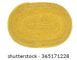 view of a oval mat for placing... | Shutterstock . vector #365171228