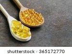 food supplement of fish oil... | Shutterstock . vector #365172770