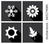 season icons vector... | Shutterstock .eps vector #365174084