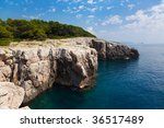 Rock Coastline In Croatia  ...