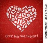 valentines day craft beer...   Shutterstock .eps vector #365176460