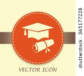 graduation cap vector icon | Shutterstock .eps vector #365177228