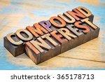 compound interest banner   text ...   Shutterstock . vector #365178713