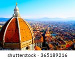 Stock photo view of firenze this picture was taken in december the chroma is accentuated 365189216
