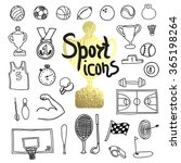 doodle sports icon. vector... | Shutterstock .eps vector #365198264
