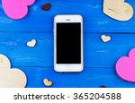 top view of smartphone with... | Shutterstock . vector #365204588