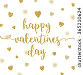 valentines greeting card  ... | Shutterstock .eps vector #365210624