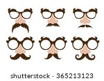 set of a fake noses  and ...   Shutterstock .eps vector #365213123