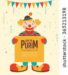 happy purim  jewish holiday.... | Shutterstock .eps vector #365213198