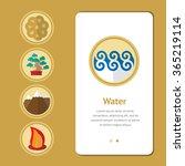 five elements  symbol of feng... | Shutterstock .eps vector #365219114