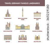 vector flat icon travel germany ... | Shutterstock .eps vector #365219180
