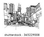 hand drawn ink line sketch new... | Shutterstock .eps vector #365229008