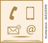 contact buttons set   email ... | Shutterstock .eps vector #365235590