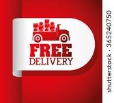 delivery service design  | Shutterstock .eps vector #365240750