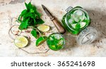 mojito cocktail. ingredients... | Shutterstock . vector #365241698
