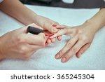 women's manicure  nail polish ... | Shutterstock . vector #365245304