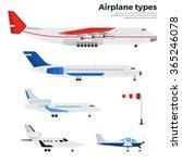 airplanes vector flat... | Shutterstock .eps vector #365246078
