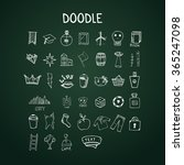 set of doodle icons  vector... | Shutterstock .eps vector #365247098