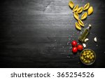 pasta background. dry pasta... | Shutterstock . vector #365254526