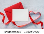 Letter And Curved Red Ribbon On ...