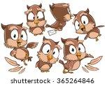 very adorable set of cartoon... | Shutterstock .eps vector #365264846