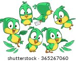 very adorable set of cartoon... | Shutterstock .eps vector #365267060
