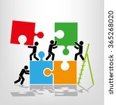 puzzle and people illustration | Shutterstock .eps vector #365268020