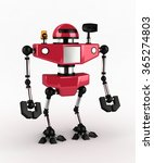 little red robot  3d | Shutterstock . vector #365274803