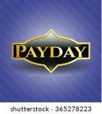 payday gold emblem | Shutterstock .eps vector #365278223
