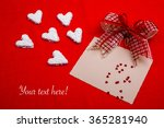 valentines white hearts and... | Shutterstock . vector #365281940