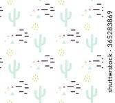 mint and white cactus desert... | Shutterstock .eps vector #365283869