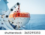 Lifeboat On Deck Of A Cruise...