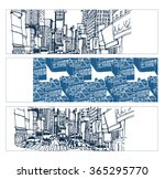 hand drawn set of bookmarks... | Shutterstock .eps vector #365295770