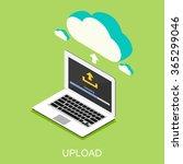 uploading process on computer... | Shutterstock .eps vector #365299046