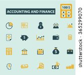 accounting  finance  icons ... | Shutterstock .eps vector #365299070