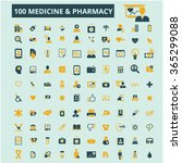 medicine and pharmacy icons ... | Shutterstock .eps vector #365299088