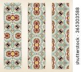 multicolored set of vertical... | Shutterstock .eps vector #365303588