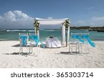 wedding setting with flower... | Shutterstock . vector #365303714