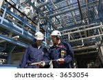 two engineers with hard hats...   Shutterstock . vector #3653054