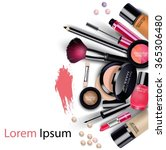 sets of cosmetics on isolated... | Shutterstock . vector #365306480