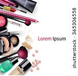 sets of cosmetics on isolated... | Shutterstock . vector #365306558