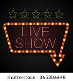shining retro light banner on... | Shutterstock .eps vector #365306648