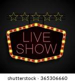shining retro light banner on... | Shutterstock . vector #365306660
