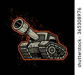 cartoon army tank machine with... | Shutterstock .eps vector #365308976