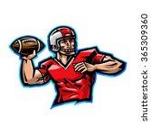 American Football Quarterback...