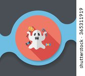 ghost flat icon with long... | Shutterstock .eps vector #365311919