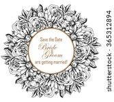 vintage delicate invitation... | Shutterstock .eps vector #365312894