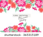 invitation with floral... | Shutterstock . vector #365315189