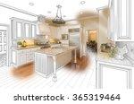 beautiful custom kitchen design ... | Shutterstock . vector #365319464